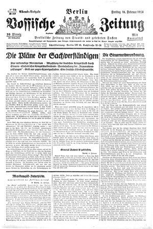 Vossische Zeitung vom 15.02.1924