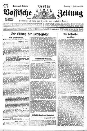 Vossische Zeitung vom 17.02.1924