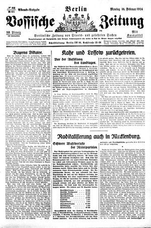 Vossische Zeitung on Feb 18, 1924