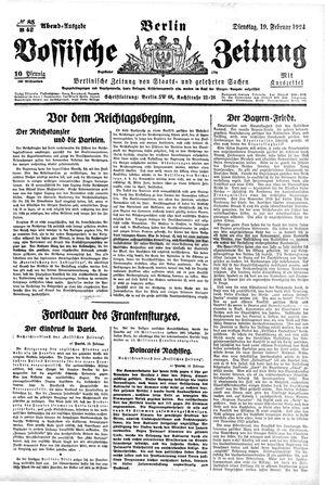 Vossische Zeitung vom 19.02.1924