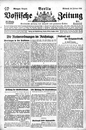 Vossische Zeitung vom 20.02.1924