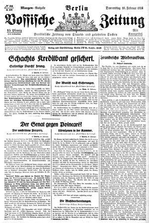 Vossische Zeitung vom 21.02.1924