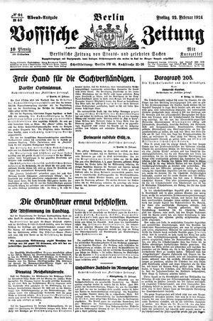 Vossische Zeitung vom 22.02.1924