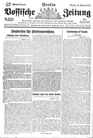 Vossische Zeitung on Feb 25, 1924