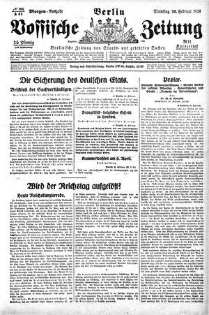 Vossische Zeitung vom 26.02.1924