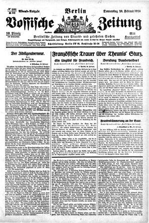 Vossische Zeitung vom 28.02.1924