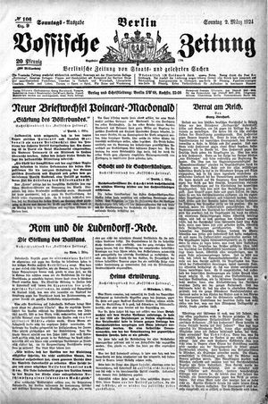 Vossische Zeitung vom 02.03.1924