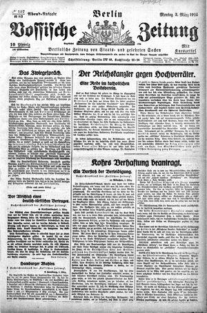Vossische Zeitung vom 03.03.1924