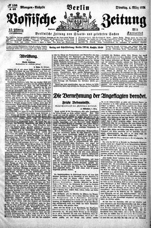 Vossische Zeitung vom 04.03.1924