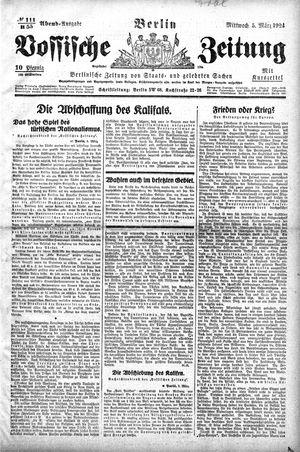 Vossische Zeitung vom 05.03.1924
