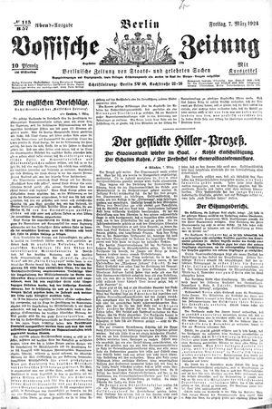 Vossische Zeitung vom 07.03.1924