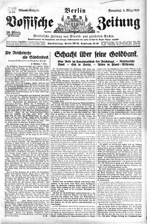 Vossische Zeitung vom 08.03.1924