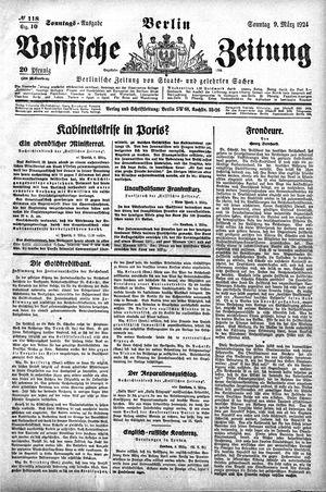 Vossische Zeitung vom 09.03.1924