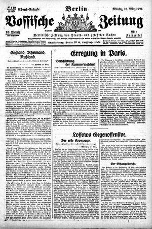 Vossische Zeitung vom 10.03.1924