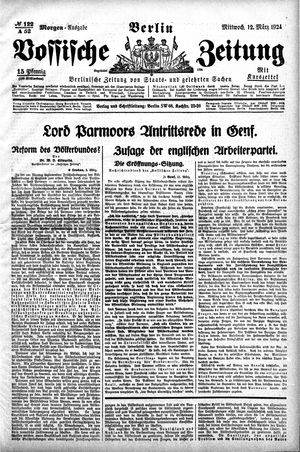 Vossische Zeitung vom 12.03.1924