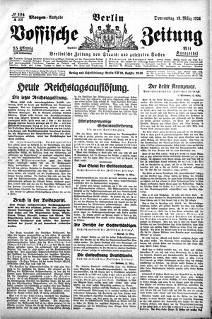 Vossische Zeitung vom 13.03.1924