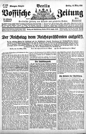 Vossische Zeitung vom 14.03.1924