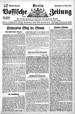 Vossische Zeitung vom 15.03.1924
