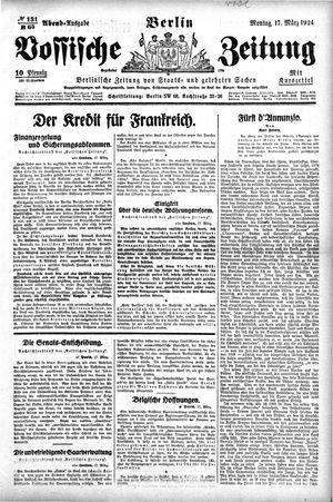 Vossische Zeitung vom 17.03.1924