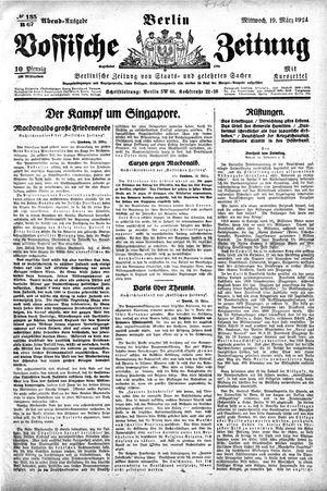 Vossische Zeitung vom 19.03.1924