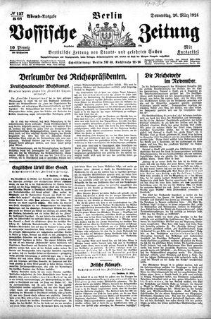 Vossische Zeitung vom 20.03.1924