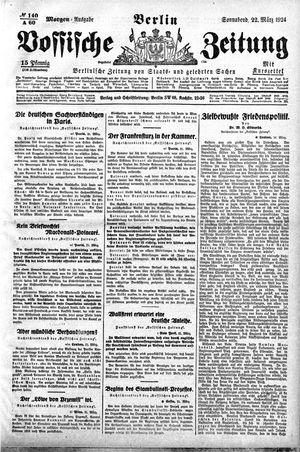 Vossische Zeitung on Mar 22, 1924