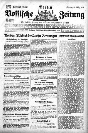 Vossische Zeitung vom 23.03.1924