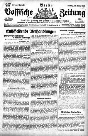 Vossische Zeitung vom 24.03.1924