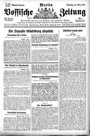 Vossische Zeitung vom 25.03.1924