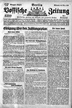 Vossische Zeitung vom 26.03.1924
