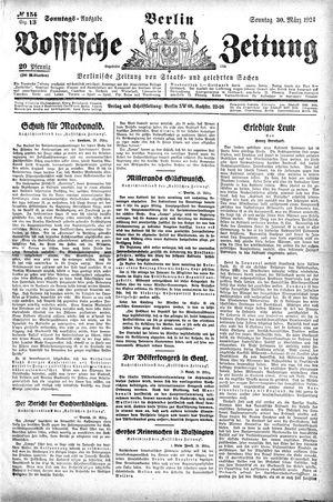 Vossische Zeitung vom 30.03.1924