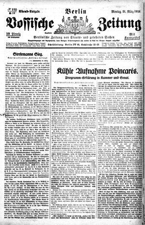 Vossische Zeitung vom 31.03.1924