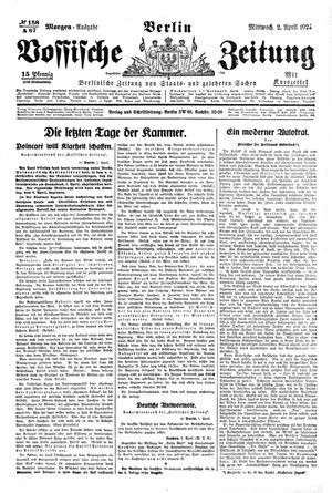 Vossische Zeitung vom 02.04.1924