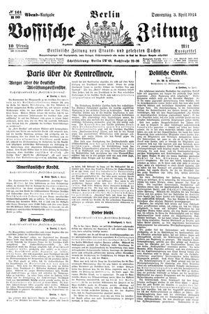 Vossische Zeitung vom 03.04.1924
