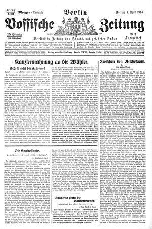 Vossische Zeitung vom 04.04.1924