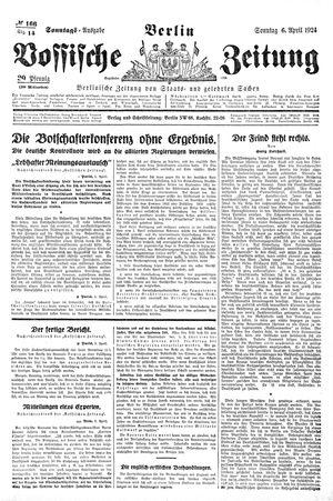 Vossische Zeitung vom 06.04.1924