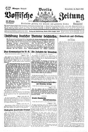 Vossische Zeitung vom 12.04.1924