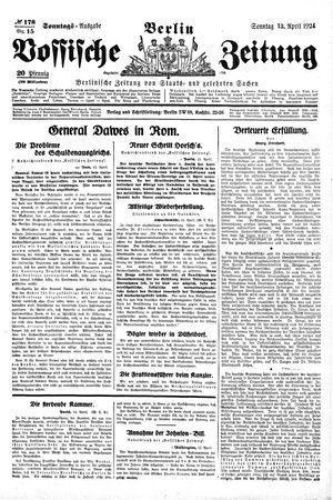 Vossische Zeitung vom 13.04.1924