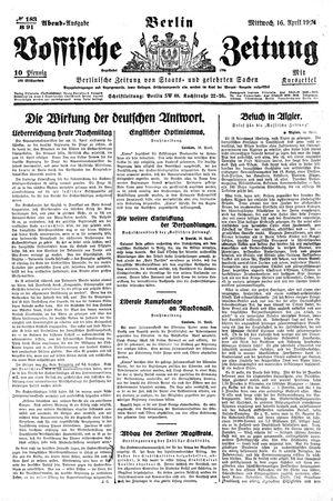 Vossische Zeitung vom 16.04.1924