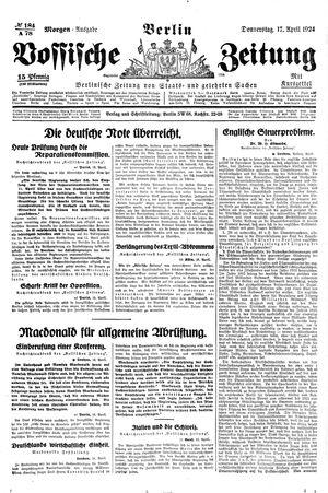Vossische Zeitung vom 17.04.1924