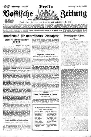 Vossische Zeitung vom 20.04.1924