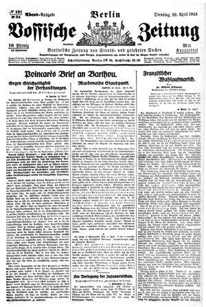 Vossische Zeitung vom 22.04.1924