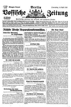 Vossische Zeitung vom 24.04.1924