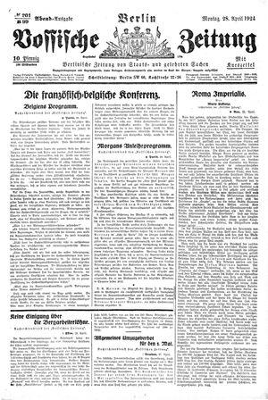 Vossische Zeitung vom 28.04.1924