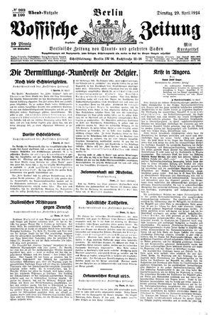 Vossische Zeitung vom 29.04.1924