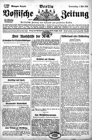 Vossische Zeitung vom 01.05.1924