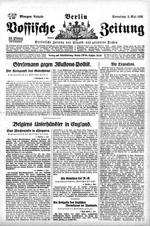 Vossische Zeitung on May 3, 1924