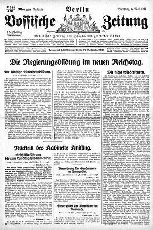Vossische Zeitung vom 06.05.1924