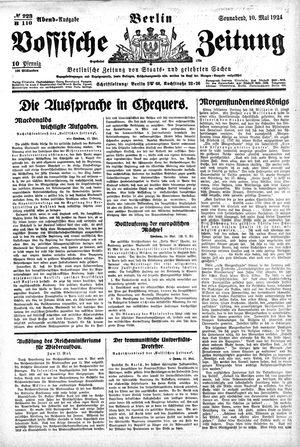 Vossische Zeitung vom 10.05.1924