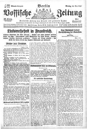 Vossische Zeitung vom 12.05.1924